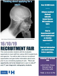 University of Hertfordshire Recruitment Fair 2019 Poster
