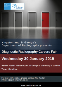 Kingston & St George's Diagnostic Radiography Careers Fair.